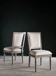 FOX6229H Buchanan Rect Side chair Old world elegance meets modern