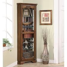 Walmart Corner Curio Cabinets by Coaster Furniture Corner Curio Cabinet Walmart