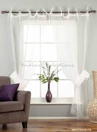 Striped Sheer Curtain Panels by Photos White Tie Top Sheer Tissue Curtain Drape Panel Concealed