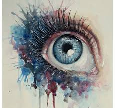Daydreaming By BenjiiBen Watercolor Eyes Are So Easy And Pretty When You Add Colors On The Face It Makes Concept Understood
