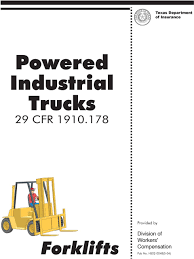 100 Powered Industrial Truck S PDF