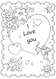 Click To See Printable Version Of Valentines Day Card I Love You Coloring Page