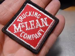 VINTAGE MCLEAN TRUCKING Company Patch 2 1/2