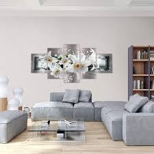 bilder blumen lilien wandbild 200 x 100 cm vlies leinwand