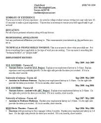 Example College Resume Student Template No Experience Examples Sample