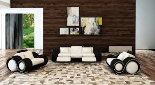 canape relax cuir blanc deco in ensemble canape cuir relax oslo 3 1 1 places blanc