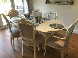 french style dining table and chairs second hand household