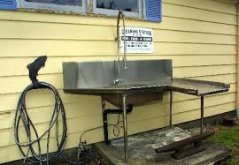 stainless steel fish cleaning station hubby s spaces pinterest
