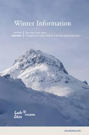 lech zürs information winter 2018 19 by lech zürs tourismus