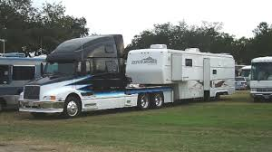 Volvo 770 Toy Hauler/ Toterhome RV Conversion - Ex NASCAR Transport ... Rv Factory Tour Showhauler Custom Motorhomes Safest Youtube Ponderance Interesting Semi Truck With Living Space Cool Rvs Pinterest 4x4 Mine Bus Truck Accsories The Crazy Offroad Trucks Of The 2015 Overland Expo Gallery Kenworth Motorhome Improve Your Safety On Road By Towing With A Larger Welcome To Racing Rvs Full Service Dealer This Sixwheel Ford F350based Revcon Trailblazer Is Original 15 Creative Converted School Buses Mental Floss Manufacturers Big Guide Brands And Types 8v71 Powered Cversion 22k 1977 Gmc Buffalo 40footer Bring