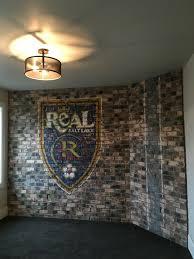 100 Brick Walls In Homes Real Salt Lake Logo Painted On Brick Wall For The Parade Of