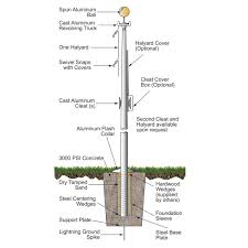 100 Flag Pole For Truck Economy Extra Series Pole 40 Feet Tall