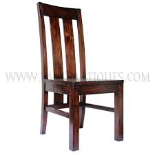 Custom Teak Tall-back Dining Chair