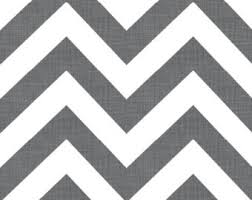 grey chevron fabric etsy