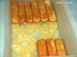 dessert avec des boudoirs gateau sans cuisson a l ananas pique assiette