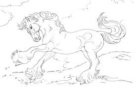 Horses Coloring Pages Perfect Detailed Horse Es Print Printable For Kids Realistic Horseshoe Com