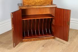 top office bureau antique deco figured walnut office writing bureau desk by