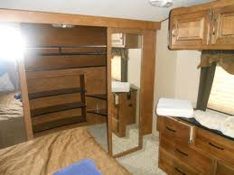 Class C Motorhome With Bunk Beds by Kitchen Awesome 3 Slide Travel Trailer 3 Room Camper Trailer