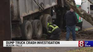 Driver Breaks Leg After Truck Carrying Hot Tar Crashes In Beacon Falls