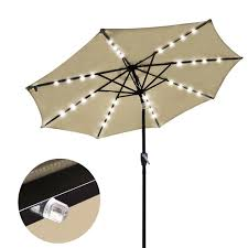 Kohls Market Patio Umbrella by Amazon Com Yescom 9 U0027 Beige Outdoor Patio Garden Deck Aluminium