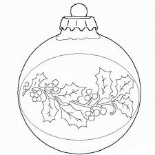 Ball Christmas Ornament Coloring Page