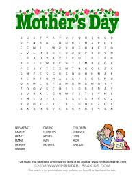 Mothers Day Wordsearch Printables For Kids Free Word Search Puzzles Coloring Pages