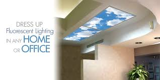 4x8 Ceiling Light Panels by Sky Scapes Decorative Fluorescent Light Covers Light Panels And