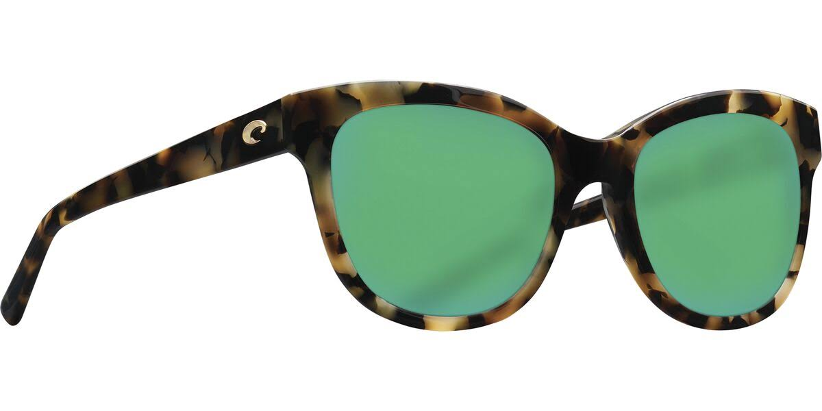Costa Del Mar Bimini Sunglasses - Shiny Vintage Tortoise/Green Mirror 580G