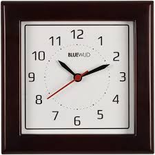 Exciting Square Wooden Wall Clock For Your Interior Decoration Fabulous Espresso