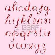 Handwritten Alphabet Drawing Abecedario Manuscrito Alfabeto Y