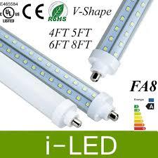 v shaped single pin fa8 led lights 4ft 5ft 6ft 8ft led