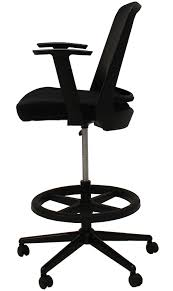 Extended Height Office Chair by Mesh Back Drafting Stool 22