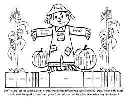 General Conference Coloring Page For Kids LDS