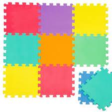 puzzlematte spielmatte uni bunt 10 tlg spielteppich schaumstoff puzzle kinderteppich