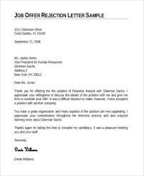 Job fer Letter Samples 8 Free Documents in Word PDF
