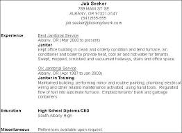 Janitorial Sample Resume Custodian Unique Hospital Page Best Example Resumes Janitor Project Manager