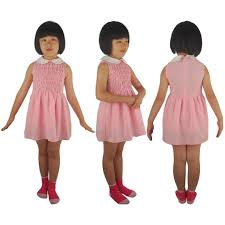 kids girls stranger things eleven el dress cosplay costume daily