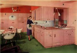 1953 Pink Formica Kitchen Flashback