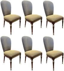 casa padrino luxus barock esszimmer stuhl set grau braun silber 52 x 55 x h 100 cm barock küchen stühle 6er set esszimmer möbel im barockstil