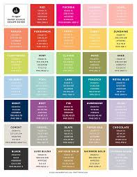 Unofficial Paper Source Color Guide Conversions For Pantone CMYK RGB And Hex Akula Kreative