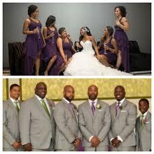 Nigerian Wedding Bridesmaids Groomsmen In Purple