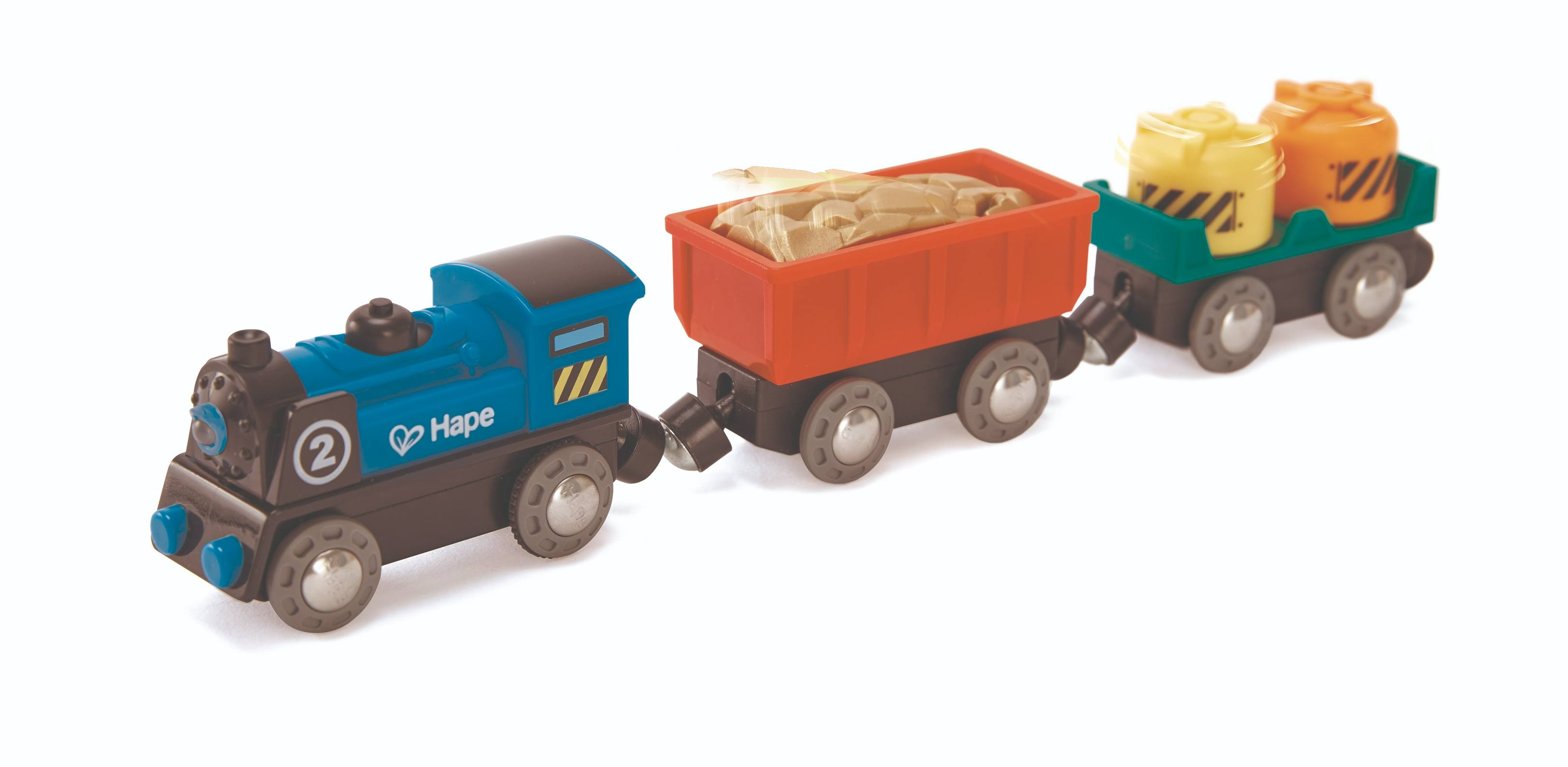 Hape Battery Powered Train Engine Toy Set