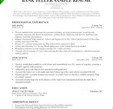 Professional Resume Samples For Banking Jobs Top Rated Bank Teller Template Download Sample Resu