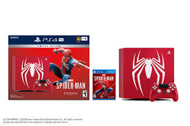 Sony Limited Edition Marvel's Spider-Man PS4 Pro 1TB Bundle, Red ...