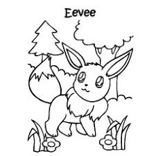 Pokemon Eevee Evolution Character Coloring Pages
