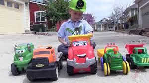 100 Dump Trucks Videos Toy Truck For Children Toy Bruder Mack Garbage Truck And
