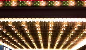 golden bulbs lights marquee broadway fame concept background