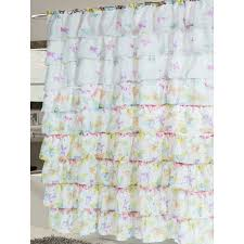 Pink And Purple Ruffle Curtains by Bathroom Purple Ruffle Curtains With Side Table And Chair For