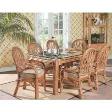 New Twist Rectangular Wicker Rattan Dining Table South Sea Collection