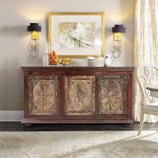 Antique English Carved Tiger Oak Sideboard Buffet Cabinet Barley